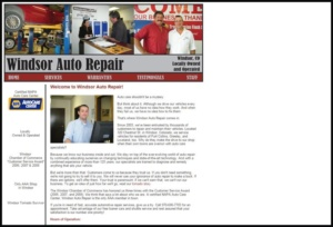 Windsor Auto Repair old website