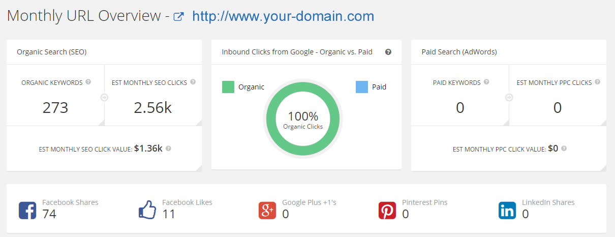 Domain and Keyword Overview