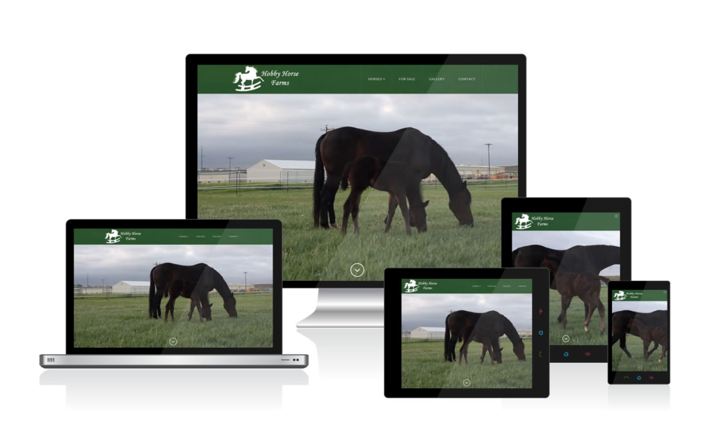 Hobby Horse Farms WordPress website is responsive across devices