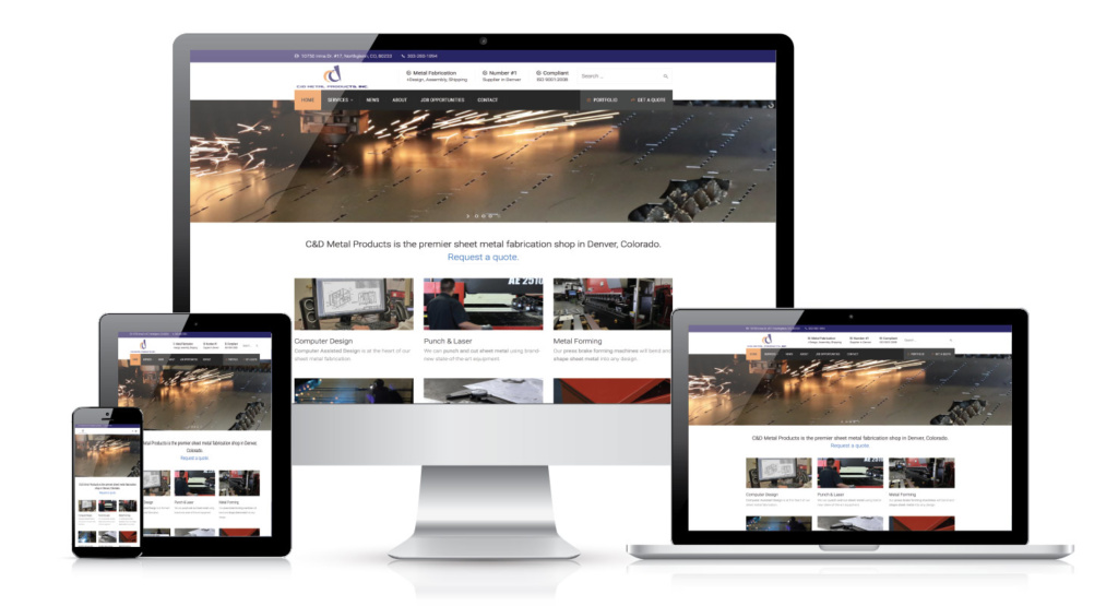 C&D Metal Products website by Colorado Web Design